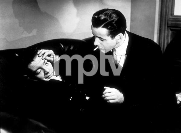 """The Maltese Falcon""Peter Lorre and Humphrey Bogart1941 Warner Bros.MPTV - Image 3570_0005"