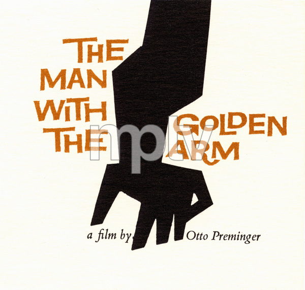"""""""The Man with the Golden Arm"""" (Saul Bass Logo)1955 United Artists © 1978 Bob Willoughby - Image 3575_0083"""