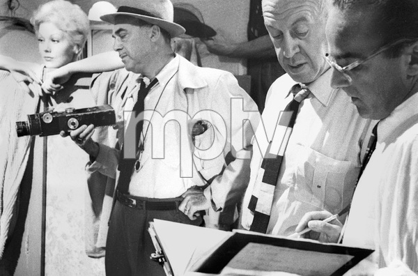 """The Man with the Golden Arm""Kim Novak, cinematographer Sam Leavitt, director Otto Preminger, assistant Max Slater1955 United Artists © 1978 Bob Willoughby - Image 3575_0089"