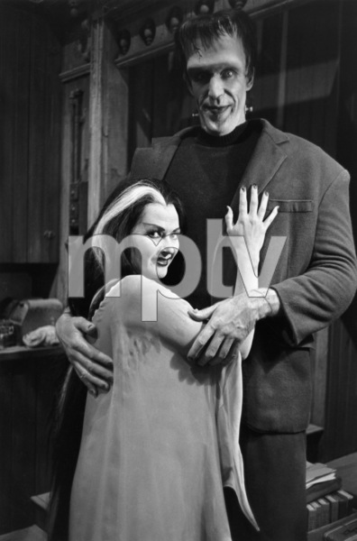 """The Munsters""Yvonne De Carlo, Fred Gwynne1964© 1978 Bob Willoughby - Image 3600_0115"
