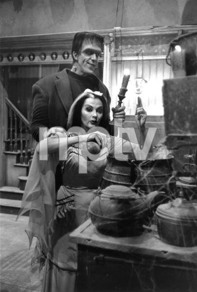 """The Munsters"" Fred Gwynne, Yvonne De Carlo1964 CBS © 1978 Bob Willoughby - Image 3600_0120"