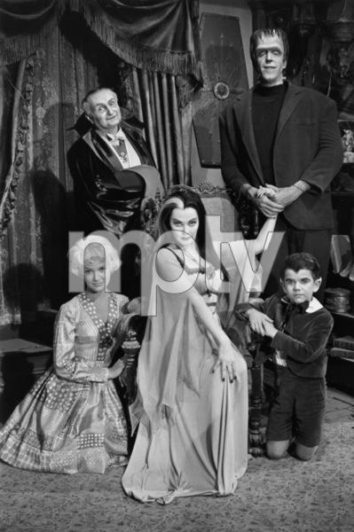 """The Munsters""Beverley Owen, Al Lewis, Yvonne De Carlo, Fred Gwynne, Butch Patrick1964© 1978 Bob Willoughby - Image 3600_0129"