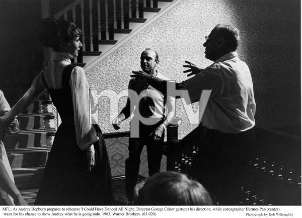 """""""My Fair Lady""""Audrey Hepburn, Hermes Pan, Dir. George Cukor1963 /Warner Brothers © 1978 Bob Willoughby - Image 3604_0644"""