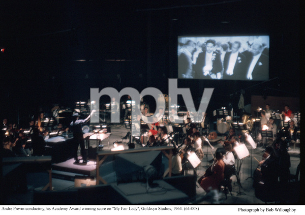 """""""My Fair Lady""""Andre Previn conducting.1964 / Warner Brothers © 1978 Bob Willoughby - Image 3604_0906"""