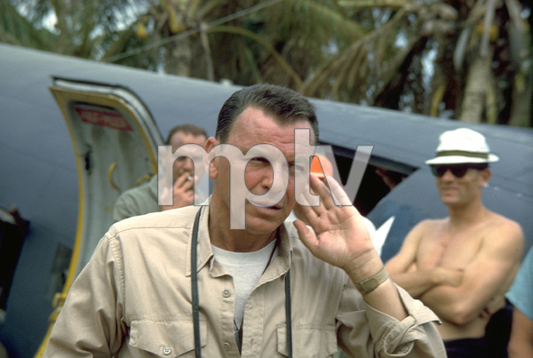 """""""None But The Brave""""Frank Sinatra on location. © 1965 WarnerPhoto by Ted Allan - Image 3619_0003"""