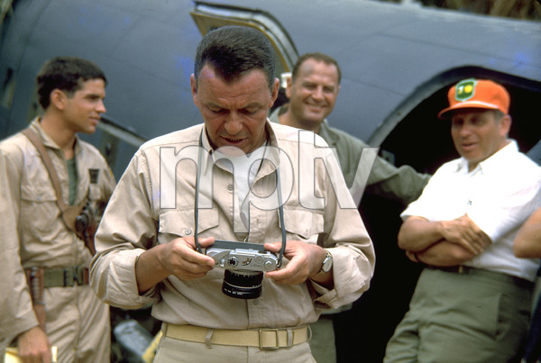 """""""None But The Brave""""Frank Sinatra on location. © 1965 WarnerPhoto by Ted Allan - Image 3619_0013"""