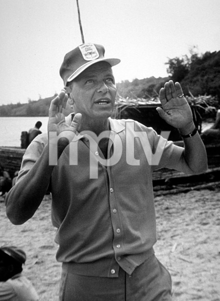 """""""None But The Brave""""Frank Sinatra directing on the set.1964 Warner/ © 1978 David Sutton - Image 3619_0117"""