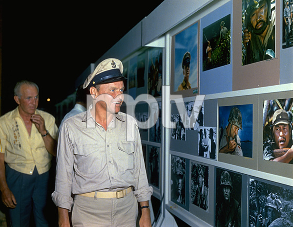"""""""None But The Brave""""Frank Sinatra reviewing the picture gallery, 1965. © 1978 Ted Allan - Image 3619_0134"""