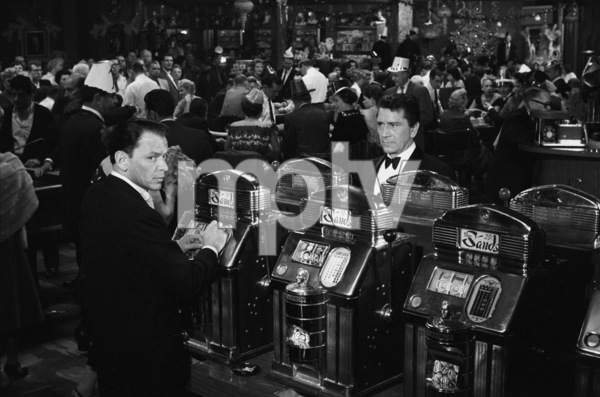 """Frank Sinatra and Richard Conte in a scene from """"Ocean"""