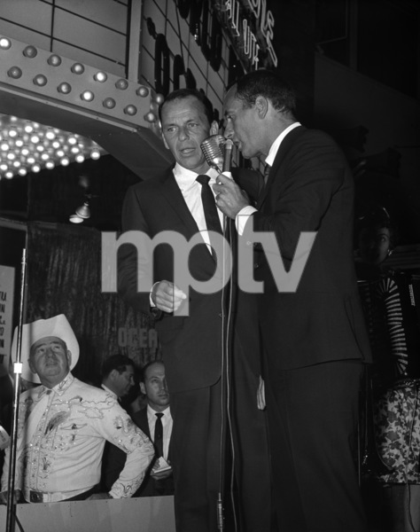 """Frank Sinatra and Joey Bishop at the premiere of """"Ocean"""