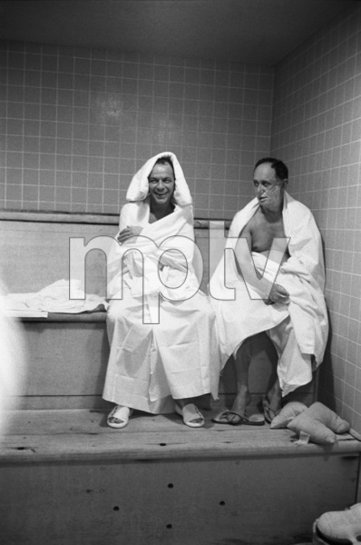 Frank Sinatra and his banker Al Hart in the steam room at the Sands Hotel in Las Vegas1960 © 1978 Bob Willoughby - Image 3625_0093