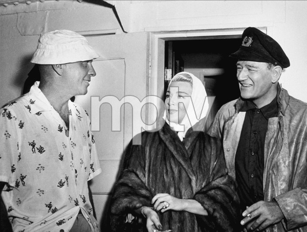 """The Sea Chase,"" Warner Bros. 1955.Director, John Farrow, Lana Turner, and John Wayne on location in Hawaii. - Image 3702_0008"