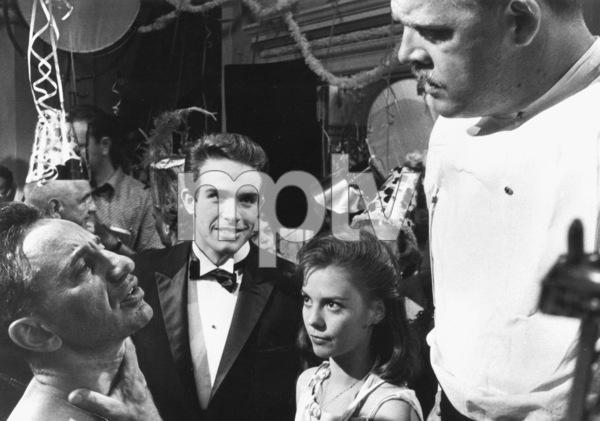"""Splendor In The Grass,""Director Elia Kazan, Warren Beatty,Natalie Wood, and Pat Hingle.1961/Warner Bros. - Image 3744_0011"