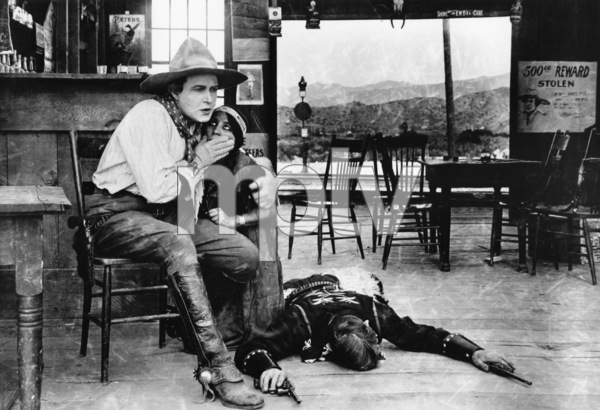 """The Squaw Man""Dustin Farnum, Princess Red Wing (aka Lillian St. Cyr) 1914 Jesse L. Lasky Feature Play Company** R.C. - Image 3745_0026"