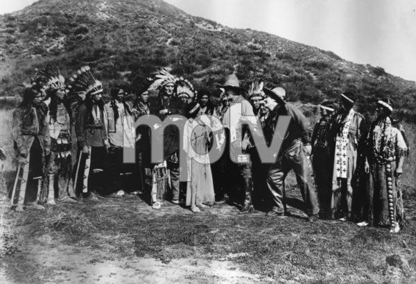 """The Squaw Man""Joseph Singleton, Princess Red Wing (aka Lillian St. Cyr), Dustin Farnum1914 Jesse L. Lasky Feature Play Company** R.C. - Image 3745_0029"