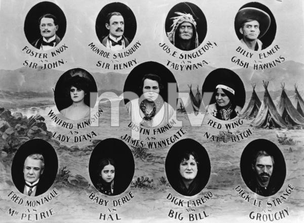 """The Squaw Man""Princess Red Wing (aka Lillian St. Cyr) 1914 Jesse L. Lasky Feature Play Company** R.C. - Image 3745_0031"