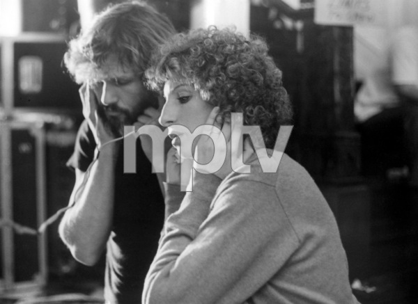 """Kris Kristofferson and Barbra Streisand on the set of """"A Star Is Born""""1976 Warner Bros.** B.D.M. - Image 3746_0036"""