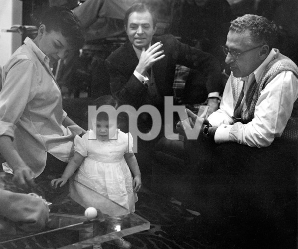 "Judy Garland, daughter Lorna Luft, James Mason, Dir. George Cukor.""A Star Is Born,"" 1954. © 1978 Bob Willoughby - Image 3747_0127"