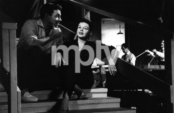 "Judy Garland and James Mason on the set of ""A Star Is Born,"" 1954. © 1978 Sanford Roth, AMPASMPTV - Image 3747_110"