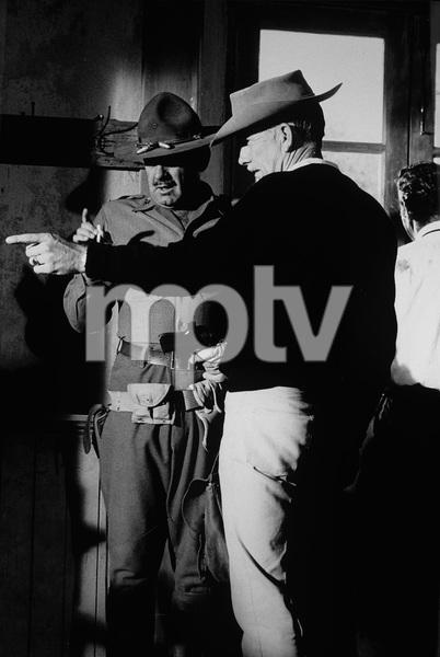 """The Wild Bunch""William Holden, director Sam Peckinpah1969 Warner BrothersPhoto by Bernie Abramson - Image 3820_0117"