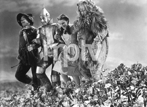 Ray Bolger, Jack Haley, Judy Garland, Bert LahrFilm SetWizard Of Oz, The (1939)0032138MGM - Image 3823_0001