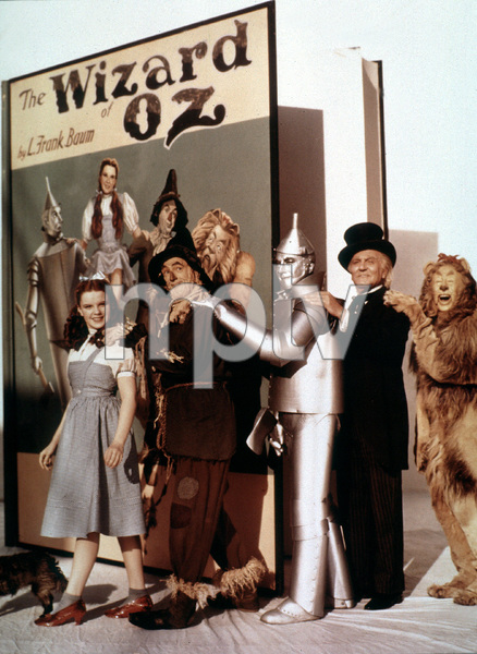 """The Wizard of Oz"" Judy Garland, Ray Bolger, Jack Haley, Frank Morgan, Bert Lahr 1939 MGM - Image 3823_0035"