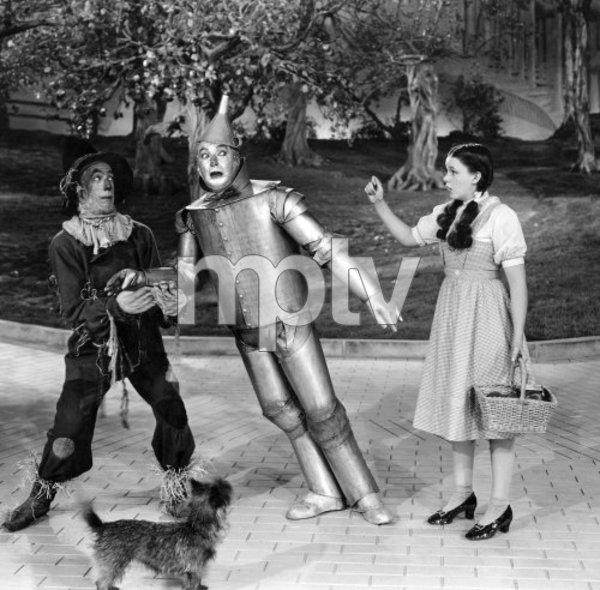 Judy Garland, Jack Haley, Ray Bolger, THE WIZARD OF OZ, M-G-M, 1939, I.V. - Image 3823_0148