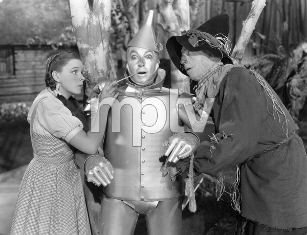 Judy Garland, Jack Haley, Ray Bolger, THE WIZARD OF OZ, M-G-M, 1939, I.V. - Image 3823_0152