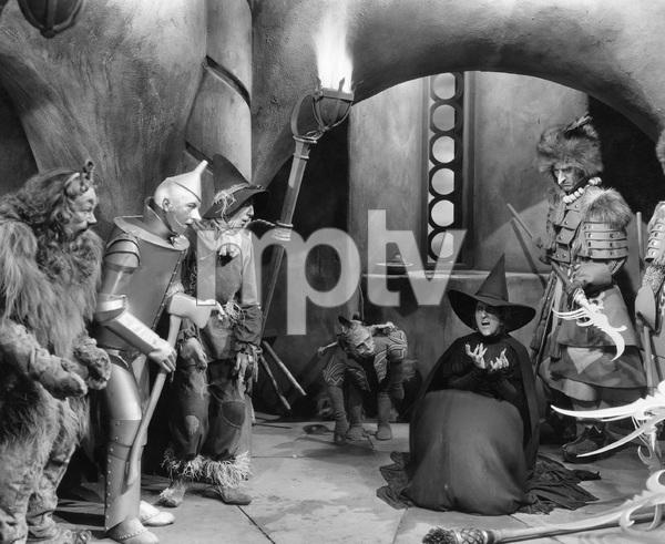 Bert Lahr, Jack Haley, Ray Bolger, Margaret Hamilton, THE WIZARD OF OZ, M-G-M, 1939, I.V. - Image 3823_0153