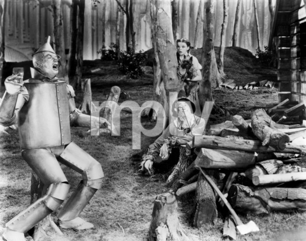 """The Wizard of Oz""Jack Haley, Judy Garland, Terry the dog, Ray Bolger1939 MGM - Image 3823_0158"