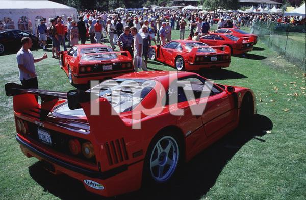 Cars2000 Concorso Italiano Monterey, CAA fleet of Ferrari F40