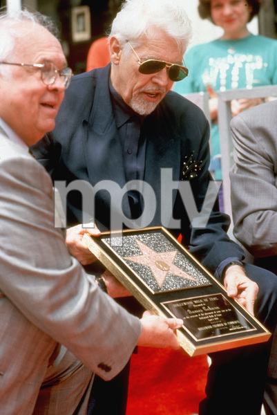 James Coburn receiving his star on the Hollywood Walk of FameApril 1, 1994 © 1994 Mirek Szepietowski - Image 3893_00033