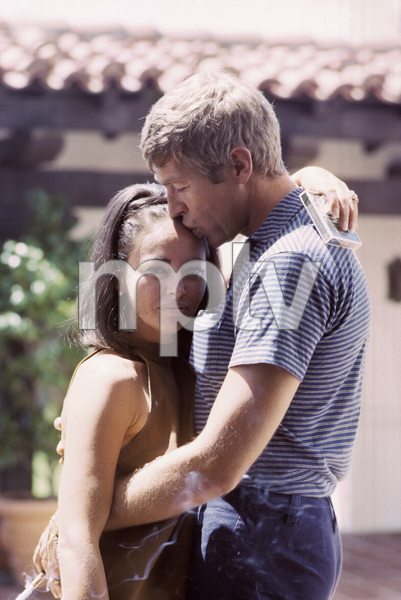 James Coburn and his wife Beverly Kelly at home1966© 1978 David Sutton - Image 3893_0062