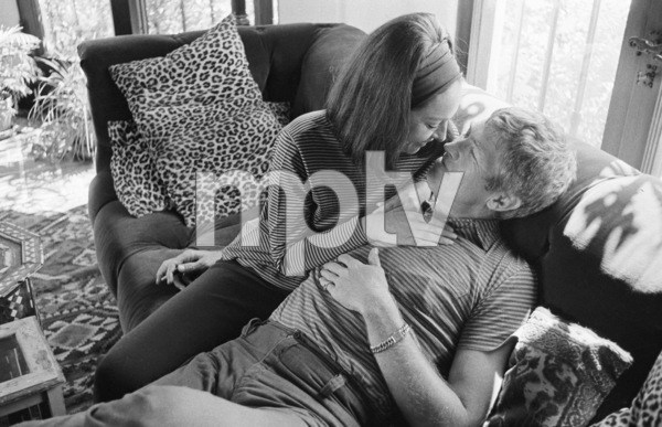 James Coburn and his wife Beverly Kelly at home1966© 1978 David Sutton - Image 3893_0141