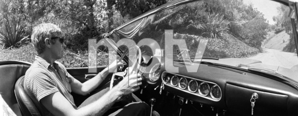 James Coburn in his 250 GT Ferrari on Benedict Canyon1966 © 1978 David Sutton - Image 3893_80