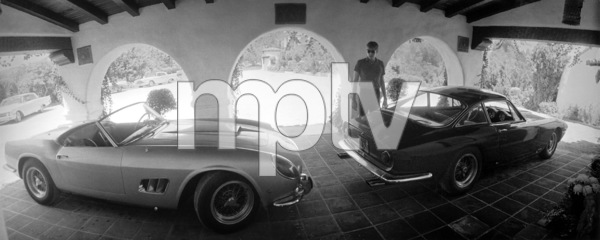 James Coburn with his 250 GT California and Lusso Ferrari at his Los Angeles home1966 © 1978 David Sutton - Image 3893_81