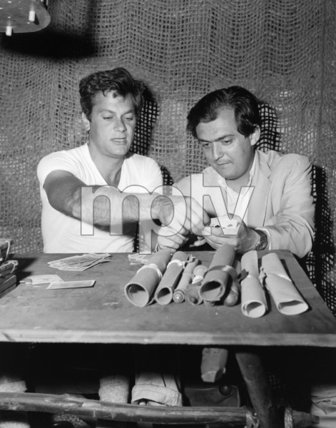 """Tony Curtis and director Stanley Kubrick on the set of """"Spartacus""""1960 Universal** B.D.M. - Image 3942_1051"""