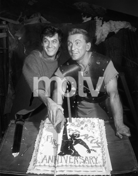 "Tony Curtis and Kirk Douglas on the set of ""Spartacus""1960 Universal** B.D.M. - Image 3942_1054"