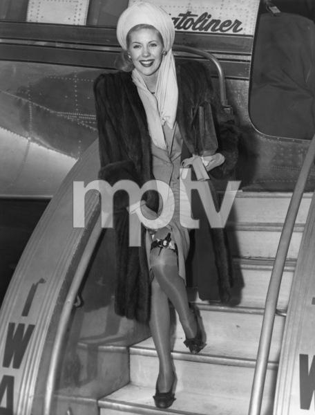 Marie McDonald arriving at LaGuardia Airport in New York CityNovember 1945 - Image 3947_0430