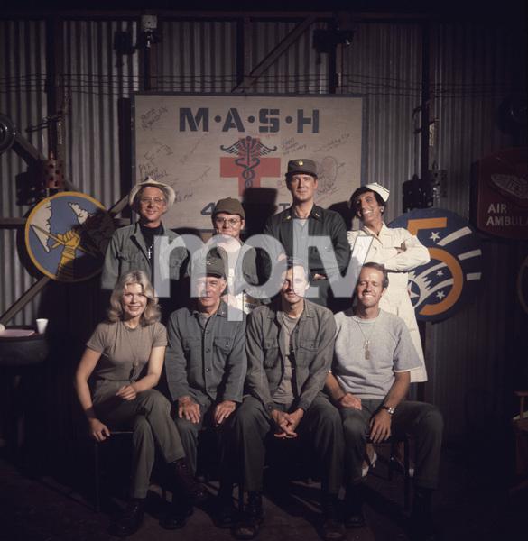 """M*A*S*H""William Christopher, Gary Burghoff, David Ogden Stiers, Jamie Farr, Loretta Swit, Harry Morgan, Alan Alda, Mike Farrellcirca 1970s** J.C.C. - Image 3958_0176"