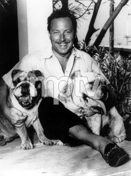 Tennessee Williams with dogs C. 1965 - Image 4015_0005