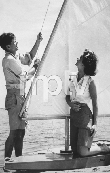 John F. Kennedy & Jackie KennedyC. 1955 - Image 4027_0008