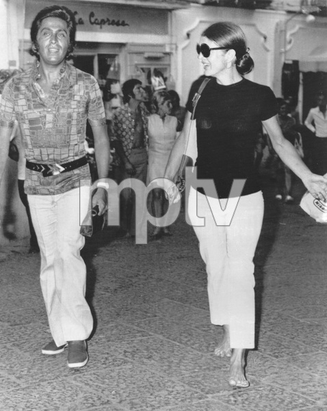 Jacqueline Kennedy-Onassis vacationing on the Isle of Capri in Italy with Italian fashion designer ValentinoAugust 27, 1970 - Image 4027_0017