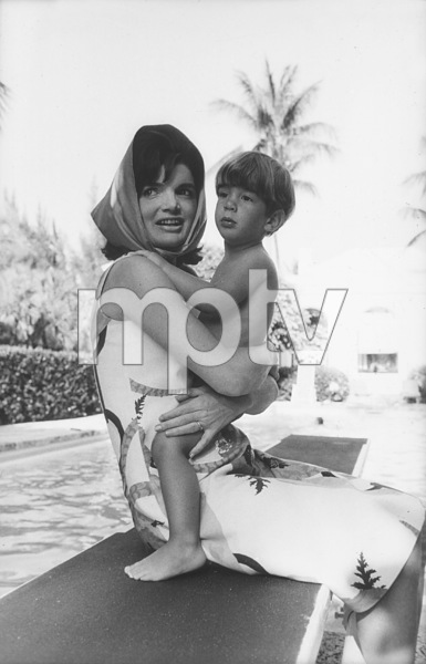 Jacqueline Kennedy and John Kennedy Jr. at Palm Beach1963 © 2000 Mark Shaw - Image 4027_0077
