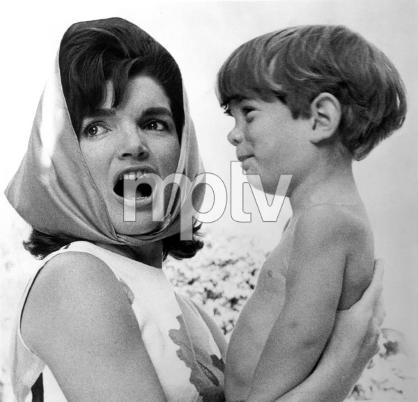 Jacqueline Kennedy with son John Kennedy Jr.at Palm Beach 1963 © 2000 Mark Shaw - Image 4027_0118