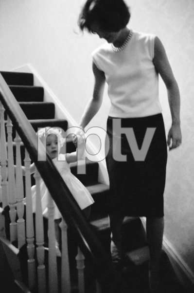 Jacqueline Kennedy and daughter Caroline in their Georgetown home1959© 2012 Mark Shaw - Image 4027_0156