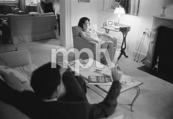 Jacqueline Kennedy in her Georgetown home1959© 2012 Mark Shaw - Image 4027_0173