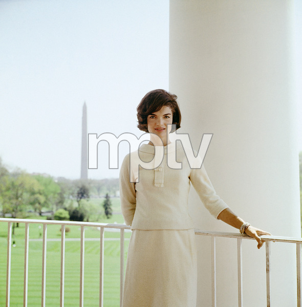 Jacqueline Kennedy in April of 1961 on the South Portico of the White House© 2012 Mark Shaw - Image 4027_0183