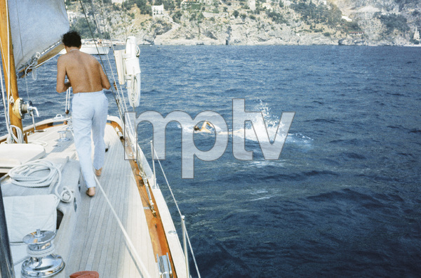 Jacqueline Kennedy swimming in Ravello, Italy1962© 2012 Mark Shaw - Image 4027_0193