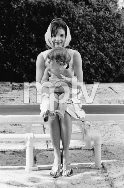 Jacqueline Kennedy with John Kennedy Jr. in Palm Beach, Florida1963© 2012 Mark Shaw - Image 4027_0198
